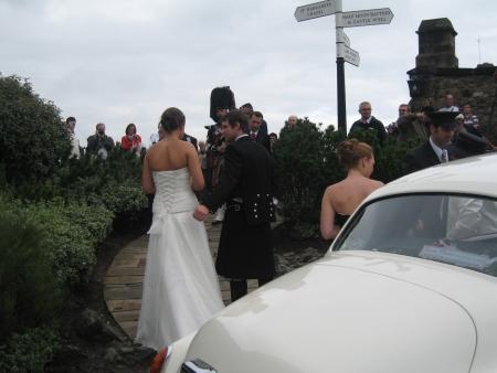 エジンバラ城で結婚式